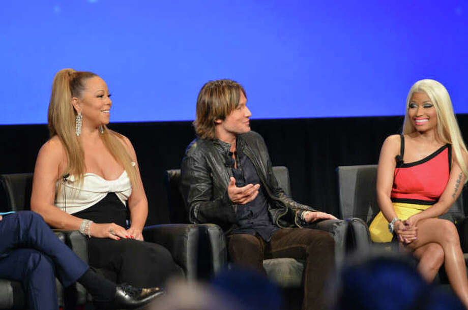 AMERICAN IDOL: Judges Mariah Carey, Keith Urban and Nicki Minaj  answer fan's questions during the AMERICAN IDOL Premiere Screening and Q & A Event at UCLA's Royce Hall in West Los Angeles, CA on Wednesday, Jan. 9.  CR: Michael Becker/FOX