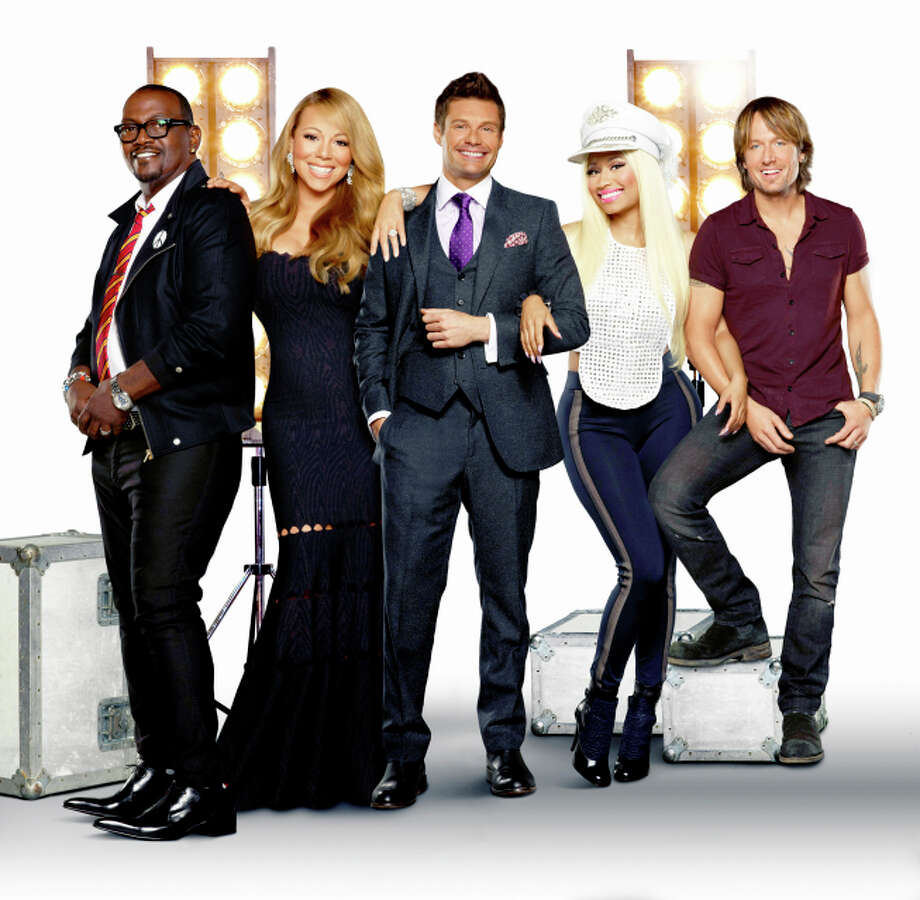 AMERICAN IDOL: Featuring host Ryan Seacrest and new judges Mariah Carey, Nicki Minaj and Keith Urban, along with returning judge Randy Jackson, the 12th season of AMERICAN IDOL begins with the exciting two-night premiere Wednesday, Jan. 16 (8:00-10:00 PM ET/PT) and Thursday, Jan. 17 (8:00-9:00 PM ET/PT).  Pictured L-R: Randy Jackson, Mariah Carey, Ryan Seacrest, Nicki Minaj and Keith Urban. CR: George Holz / FOX
