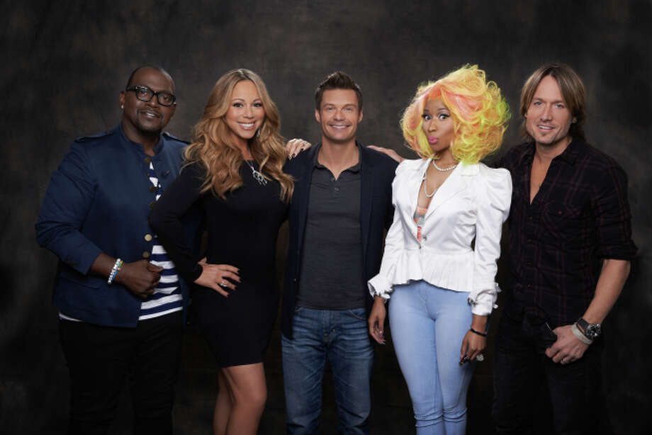 AMERICAN IDOL: SEASON 12: L-R: Randy Jackson, Mariah Carey, Ryan Seacrest, Nicki Minaj and Keith Urban. CR: Michael Becker / FOX.