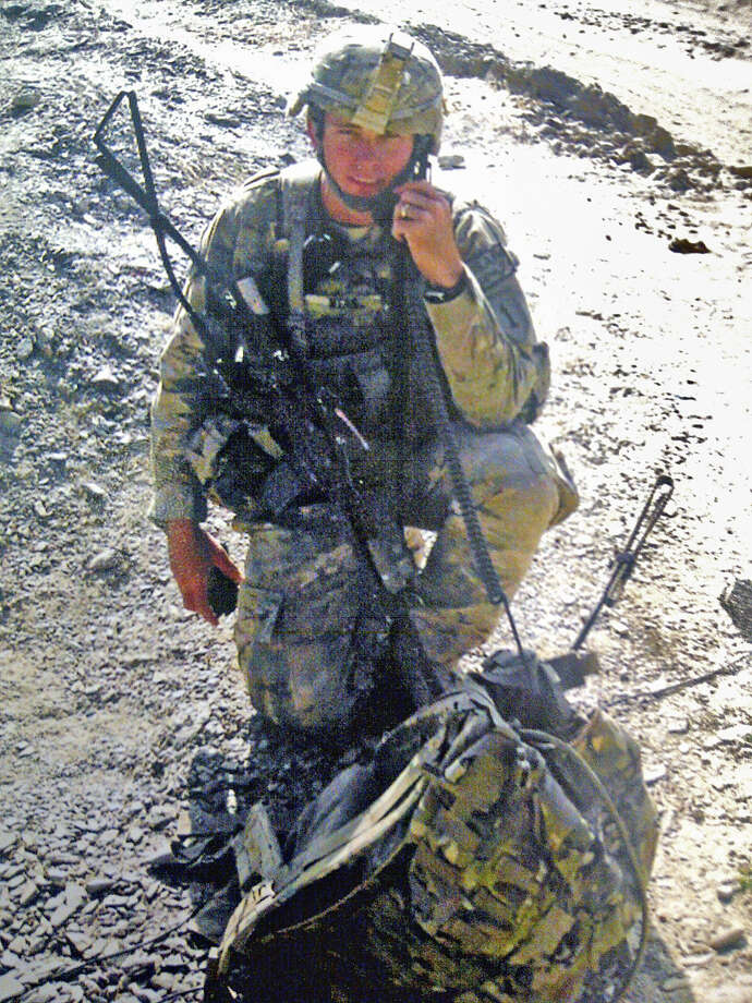 Spc. Kevin Wear was injured when a roadside bomb exploded in eastern Afghanistan. He is recovering from his wounds, including severe head trauma, at Brooke Army Medical Center. Photo: Courtesy