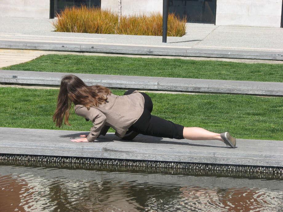 CJM, Mar. 22, 2013;dancer parallels native grass