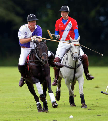 Prince Harry and Prince play in the Jerudong Trophy charity polo match at Cirencester Park Polo Club on August 5, 2012 in Cirencester, England. BritainâÄôs Prince Harry,the youngest son of Prince Charles and the late Princess Diana is scheduled to compete in a polo match in Greenwich, Conn. in May. The event  will benefit Sentebale, a charity he co-founded to help impoverished children in the African nation of Les