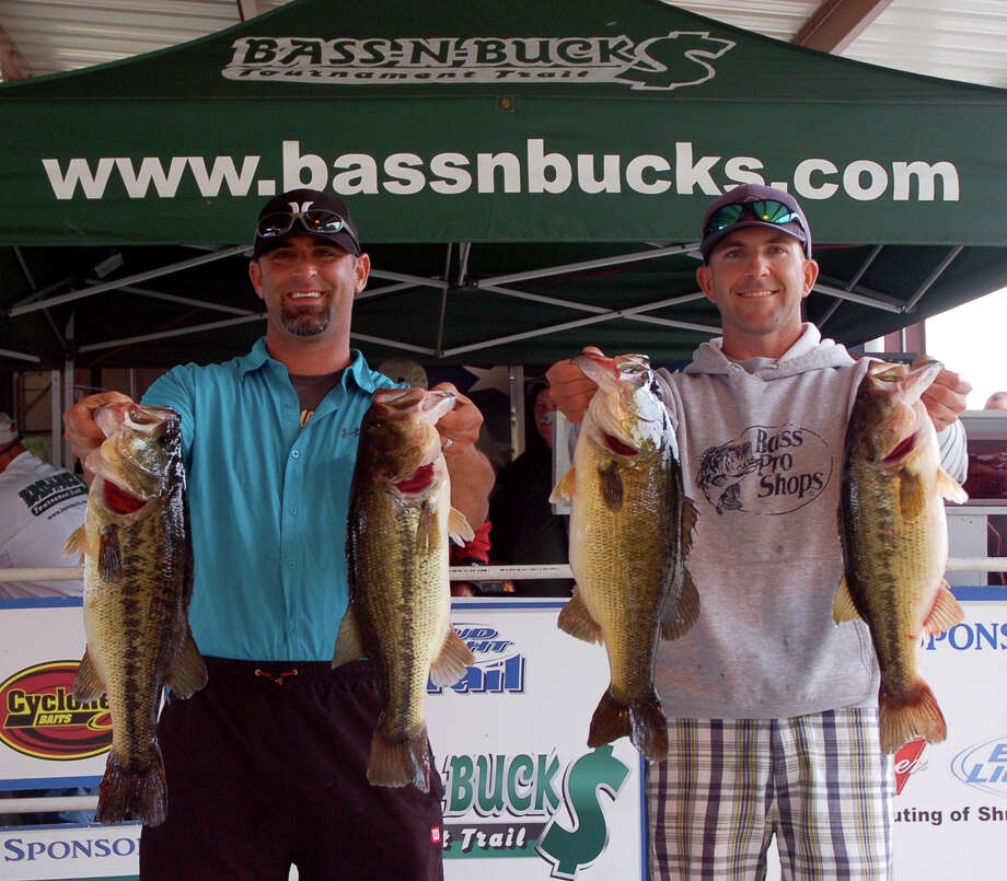 Jaret Latta and Brian Lowrance won 1st place by a huge margin weighing in a 28.18 lb sack  Photo by Patty Lenderman, Lakecaster
