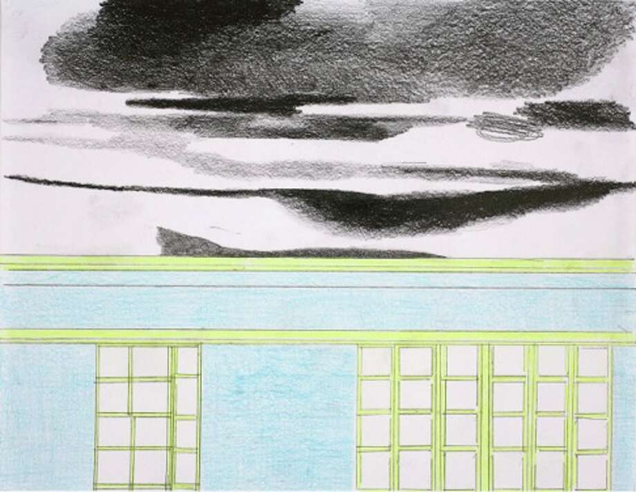 Claudia Fitch, House and Sky #2, 2011, watercolor and lead pencil on paper, 8.5x11