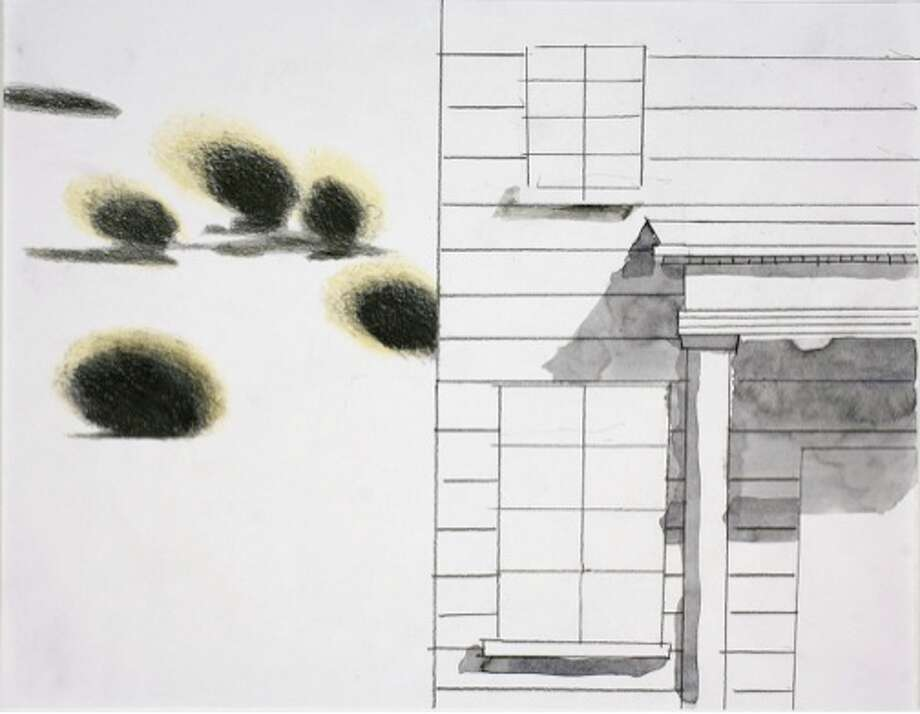 Claudia Fitch, House and Sky #3, 2011, watercolor and lead pencil on paper, 8.5x11