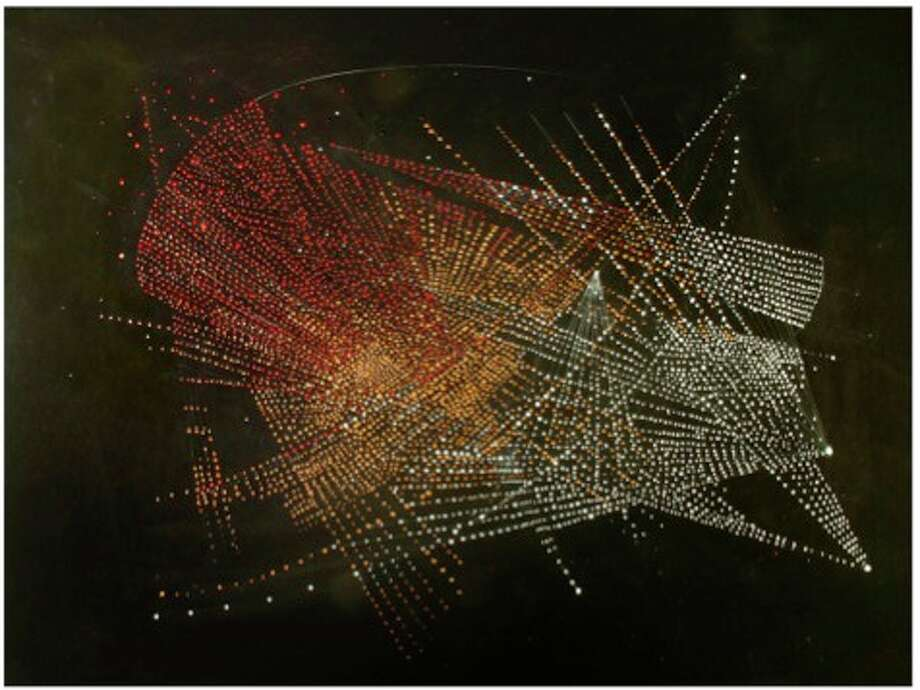 Deanne Belinoff, Solar Flare, 2012, polymer acrylic, prismacolor on archival paper, 23x40