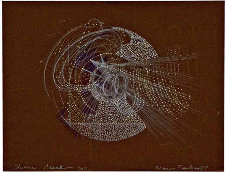 Deanne Belinoff, Whirl Wind, 2011, polymer acrylic, prismacolor on archival paper, 23x40