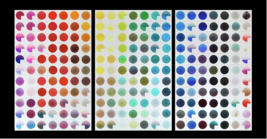 Jaq Chartier, Sun Tests 2011, ink dyes and stains on paper, 48x32