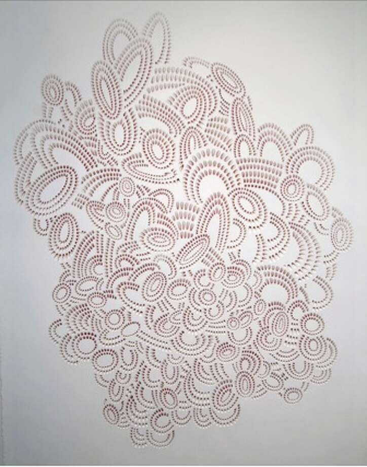 Stephanie Ashby, Indeed, 2012, hand cut paper, light, 30x22