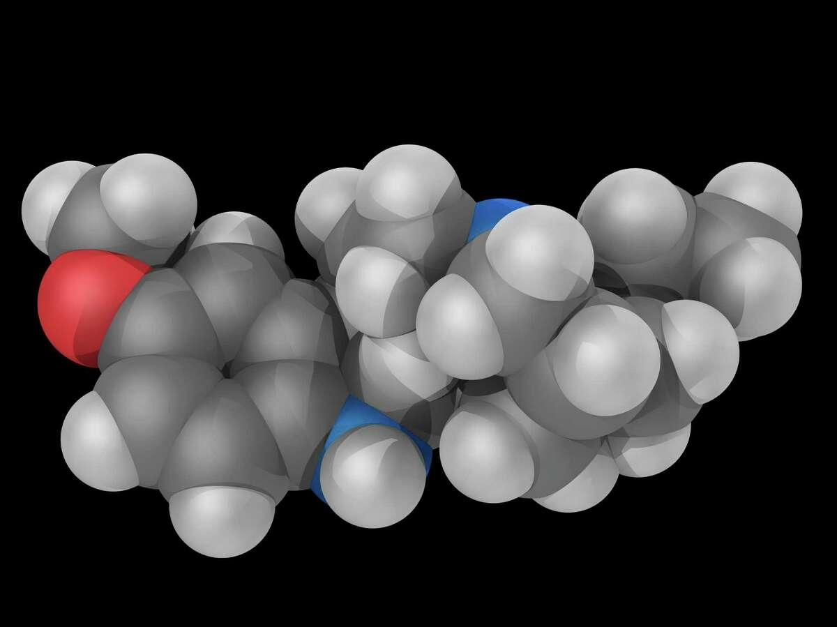Ibogaine drug molecule