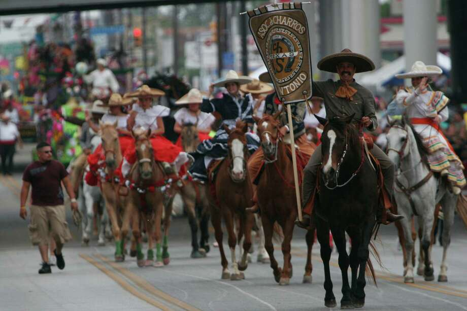 Battle of Flowers 2006: The Charro Association make its way along Broadway Street. Photo: San Antonio Express-News File Photo / SAN ANTONIO EXPRESS-NEWS
