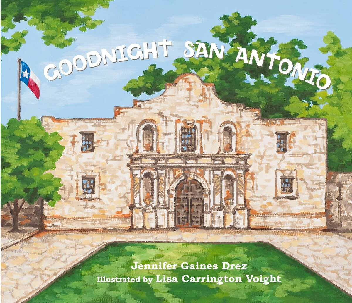 The Alamo is featured on the cover of