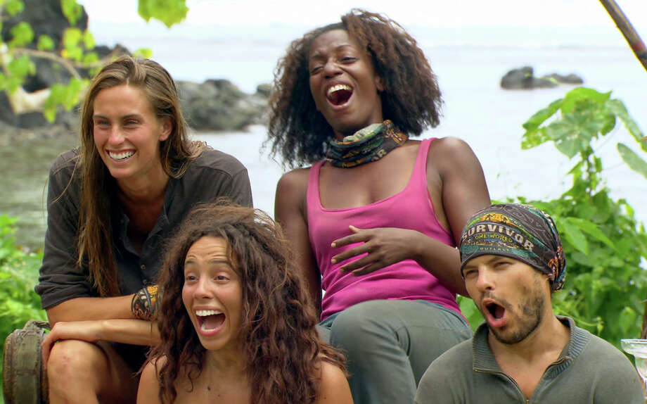I'm No Dummy -- Kim Spradlin,  Alicia Rose, Sabrina Thomson, and Leif Manson, during the reward challenge Auction, during the tenth episode of SURVIVOR: ONE WORLD, Wednesday, April 18 (8:00-9:00 PM, ET/PT) on the CBS Television Network.  Photo: CBS©2012 CBS BROADCASTING INC. All Rights Reserved. Photo: CBS / Ã?©2011 CBS Broadcasting, Inc. All Rights Reserved