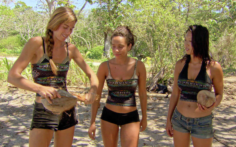 Kim Spradlin, Alicia Rose, and Christina Cha, of the Tikiano tribe  during the thirteenth episode of SURVIVOR: ONE WORLD, Wednesday, May 9 (8:00-9:00 PM, ET/PT) on the CBS Television Network. Photo: CBS Screen Grab/CBS ©2012 CBS Broadcasting Inc. All Rights Reserved. Photo: CBS / ©2011 CBS Broadcasting Inc. All Rights Reserved.
