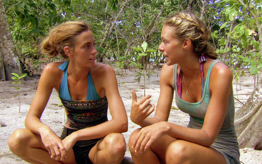 Kim Spradlin, and Chelsea Meissner,  of the Tikiano Tribe during the fourteenth episode of SURVIVOR: ONE WORLD, Sunday, May 13 (8:00-9:00 PM, ET/PT) on the CBS Television Network. Photo: CBS Screen Grab/CBS ©2012 CBS Broadcasting Inc. All Rights Reserved Photo: CBS / CBS ENTERTAINMENT