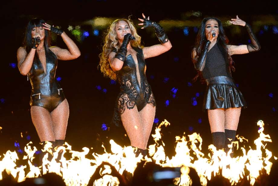 Destiny's Child, shown here performing at the 2013 Super Bowl, have a long history of matching ensembles. Click through the slideshow to see just how creative you have to be. Photo: Kevin Mazur, WireImage / 2013 Kevin Mazur