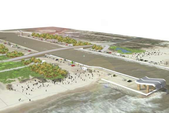 Artist's rendering of Rollover Pass on Bolivar Peninsula