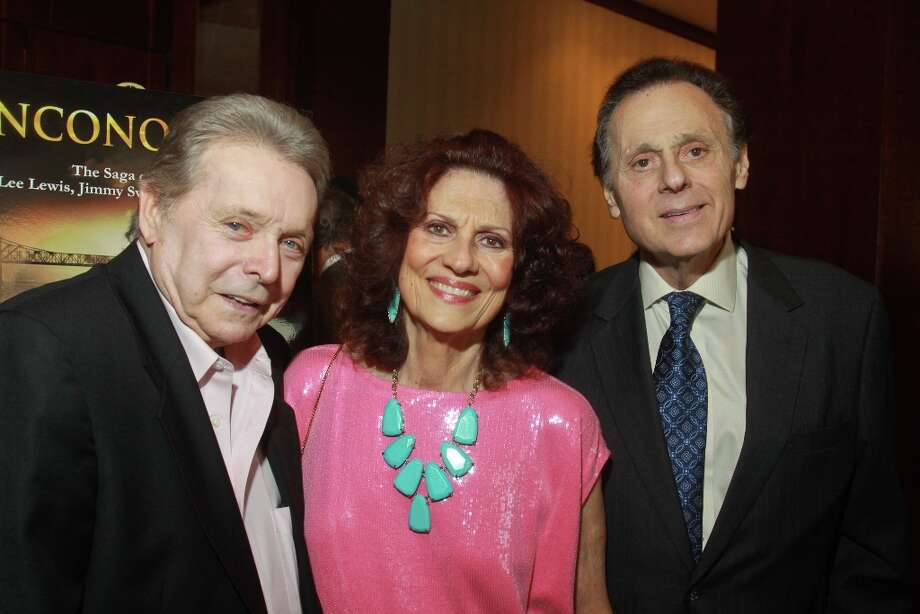 Honoree Mickey Gilley, left, with honorary chairs Donna and Tony Vallone. Photo: Gary Fountain, For The Chronicle / Copyright 2013 Gary Fountain