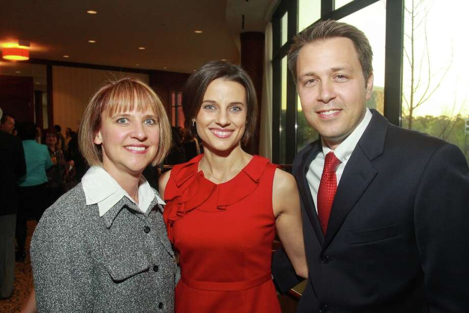 Christy Petrilla, from left, with Lauren and Lee Grumbles. Photo: Gary Fountain, For The Chronicle / Copyright 2013 Gary Fountain