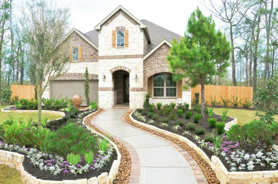 The grand opening of the Summerwood Model Home Village showcases six decorated models, including this model by Lennar.