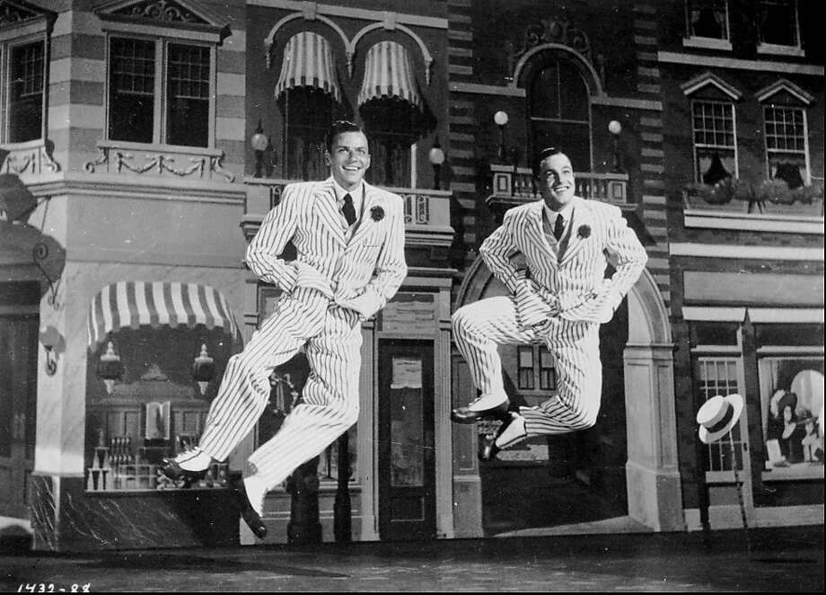 "Frank Sinatra (left) and Gene Kelly were middle infielders who had an offseason vaudeville act in the 1949 musical ""Take Me Out to the Ballgame."" Photo: Associated Press"