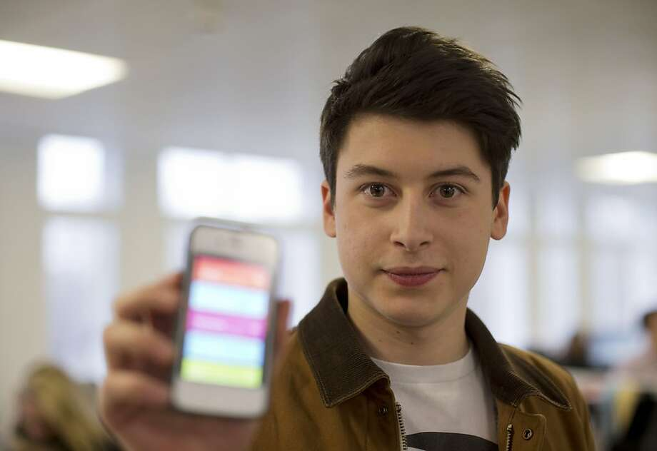 Nick D'Aloisio's Summly generates news summaries and makes them easier to read on smaller screens. Photo: Matt Dunham, Associated Press