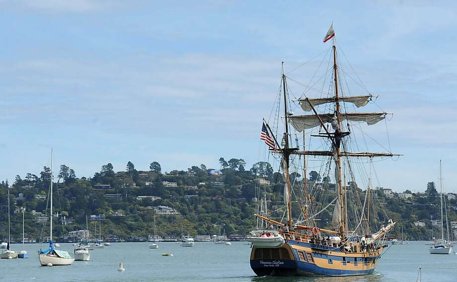 The tall ship Hawaiian Chieftain sets out onto the bay in Sausalito on March 26, 2013. The ship along with the Lady Washington will be here until April 2, 2013 Photo: Susana Bates, Special To The Chronicle
