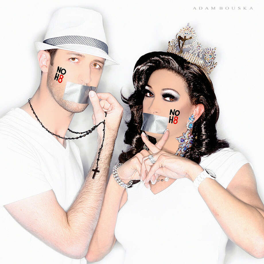 Paul Sparks, left, accountant; Kara Dion, entertainer, esthetician, Miss Gay Texas America.