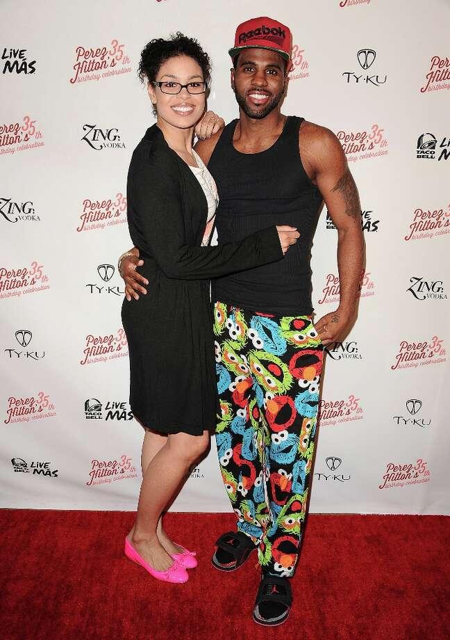 LOS ANGELES, CA - MARCH 23:  Jordin Sparks and Jason Derulo attend Perez Hilton's 35th birthday party at El Rey Theatre on March 23, 2013 in Los Angeles, California. Photo: Jason LaVeris, FilmMagic / 2013 Jason LaVeris