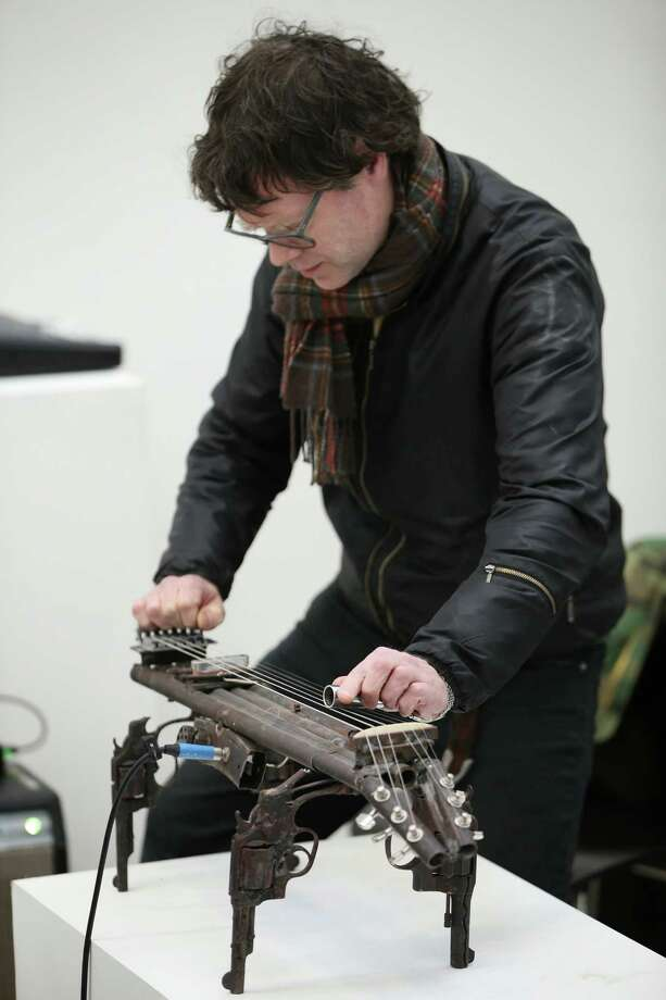 Pedro Reyes collaborated with producer and musician John Coxon to compose music and produce a record using these instruments. Photo: Peter Macdiarmid, Getty Images / 2013 Getty Images