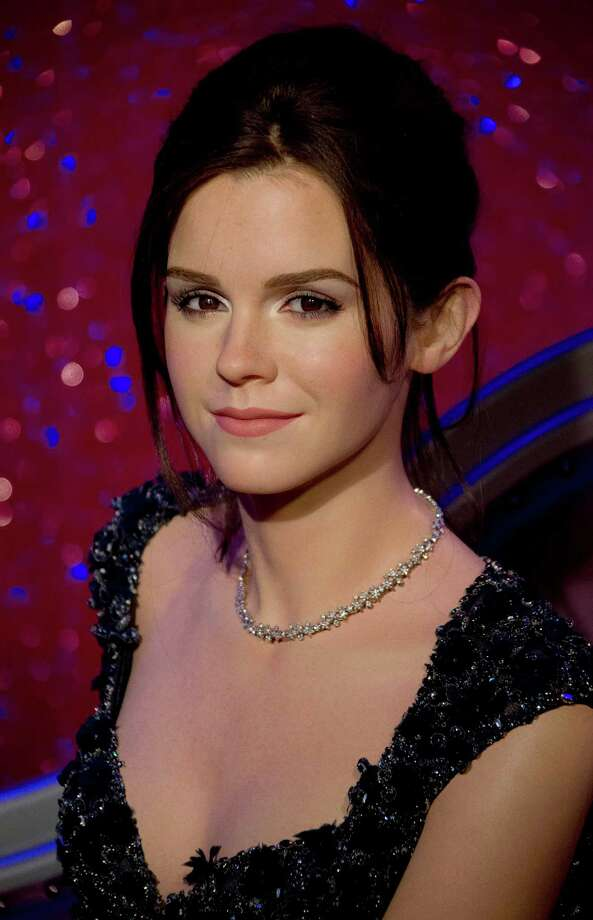 The new wax figure of Emma Watson, dressed exclusively for the attraction by Elie Saab, is photographed at Madame Tussauds in central London, Tuesday, March 26, 2013. (Photo by Joel Ryan/Invision/AP) Photo: Joel Ryan