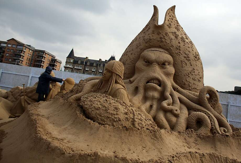 "The tentacled mug of ""Pirates of the Caribbean's"" Capt. Davy Jones glares malevolently in
