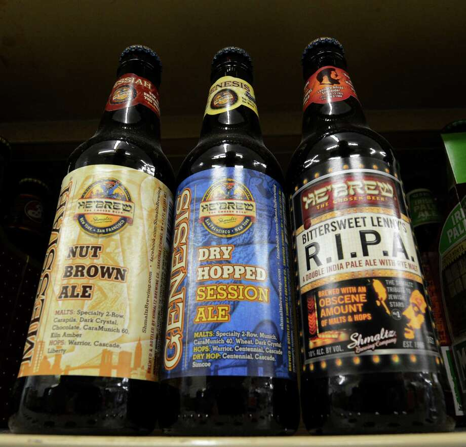 Schmaltz Beer Company brands on the shelves at the EBI Beverage Company March 26, 2013 in Saratoga Springs, N.Y. (Skip Dickstein/Times Union) Photo: SKIP DICKSTEIN / 10021742A