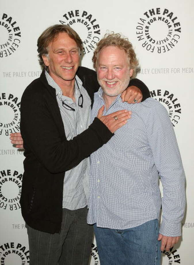 Timothy Busfield and Peter Horton arrive at the ThirtySomething Celebration DVD Launch in 2009. Photo: Jason Merritt, Getty Images / 2009 Getty Images