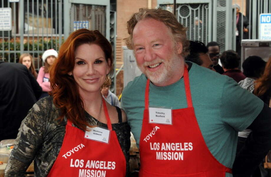 Melissa Gilbert and Busfield participate in the Los Angeles Mission Christmas Eve lunch For The Homeless held at the Los Angeles Mission on Dec. 24, 2012. Photo: Albert L. Ortega, WireImage / 2012 Albert L. Ortega