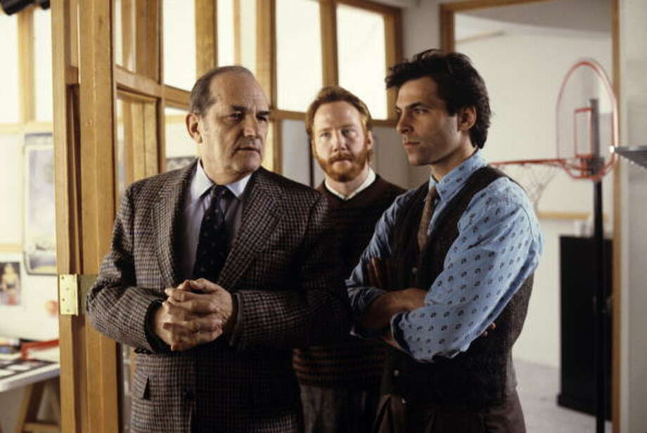 Business as Usual - Season One - 2/9/88, Michael's (Ken Olin, right) hopes for a joyous reunion with his father Leo (guest star Steven Hill) are destroyed when he discovers the real reason for the visit. Timothy Weston (Elliot) also starred., Photo: ABC Photo Archives, ABC Via Getty Images / American Broadcasting Companies, Inc.