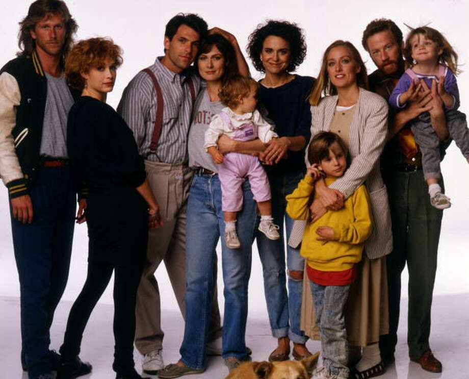 1988 - Pictured, from left: Peter Horton (Gary), Melanie Mayron (Melissa), Ken Olin (Michael), Mel Harris (Hope), Brittany/Lacey Craven (Janey), Polly Draper (Ellyn), Luke Rossi (Ethan), Patricia Wettig (Nancy), Timothy Busfield (Elliot), Jordana Bink Shapiro (Brittany), Photo: ABC Photo Archives, ABC Via Getty Images / American Broadcasting Companies, Inc.