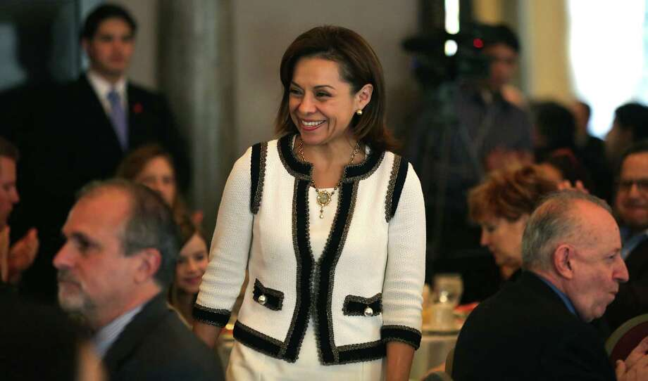 Josefina Vásquez Mota, who was the National Action Party candidate in Mexico's presidential election last year, said immigrants from Mexico have capital to invest in cities like San Antonio. Photo: Photos By Bob Owen / San Antonio Express-News