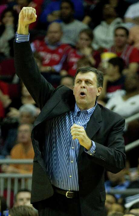 Houston Rockets head coach Kevin McHale reacts to a foul call during the second half of an NBA basketball game against the Brooklyn Nets at Toyota Center Saturday, Jan. 26, 2013, in Houston. ( Brett Coomer / Houston Chronicle ) Photo: Brett Coomer, Staff / © 2013 Houston Chronicle