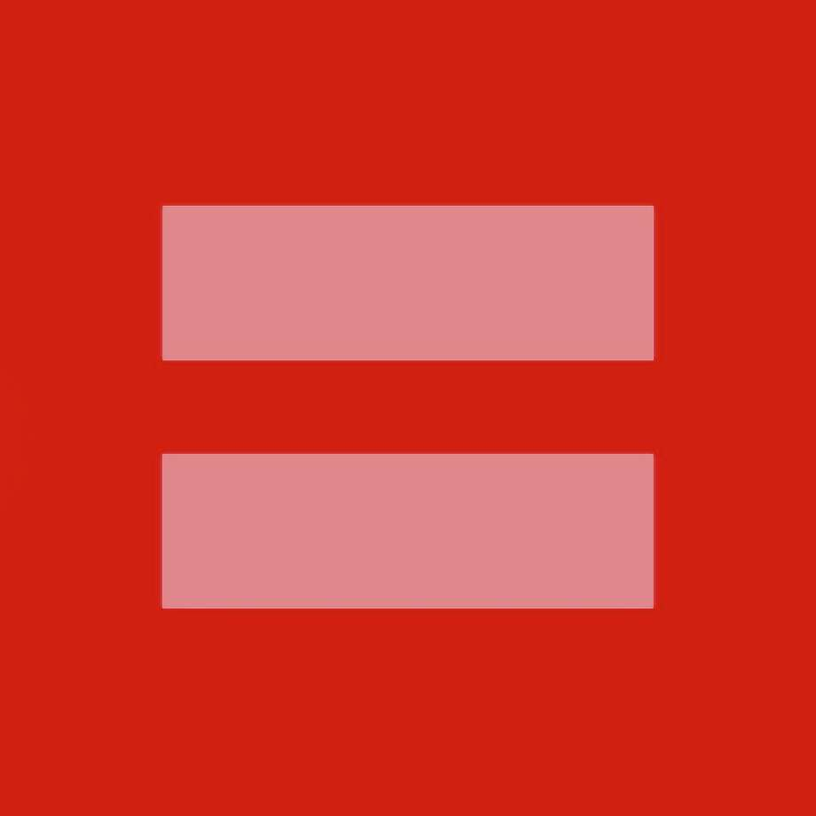 To recognize ? and support ? the same sex marriage fight happening in Washington, many people are changing their avatar to a blue box with two yellow lines, or an equal sign (AKA the sign of equality), or a red box with a pink equal sign.  The blue box is the permanent logo of the Human Rights Campaign. The red is in observance of the Supreme Court hearings today and tomorrow.