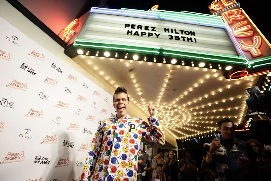 In this photo provided by Perez Hilton, Hilton attends his Pajama Birthday Party at the El Rey Theatre, Saturday, March 23, 2013, in Los Angeles. (Photo by WINNK for Perez Hilton) Photo: Katy Winn, Associated Press / WINNK for Perez Hilton