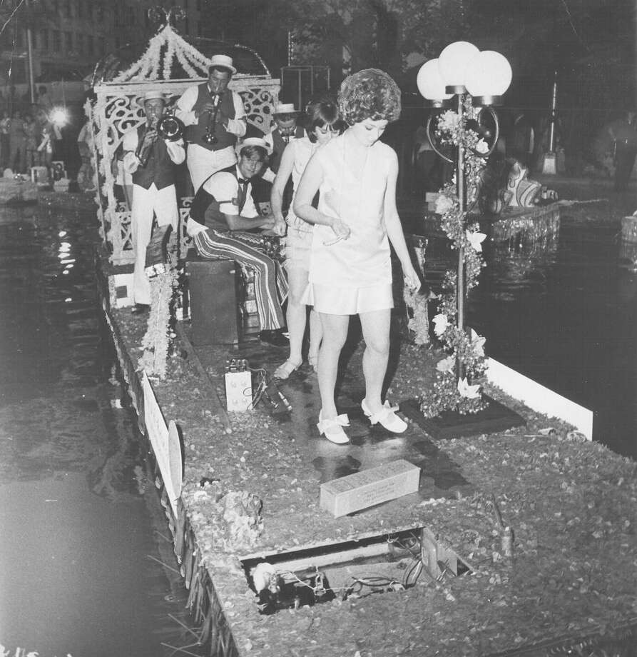Fiesta River Parade 1969: The float from Our Lady of the Lake College travels the parade route. Photo: San Antonio Express-News File Photo