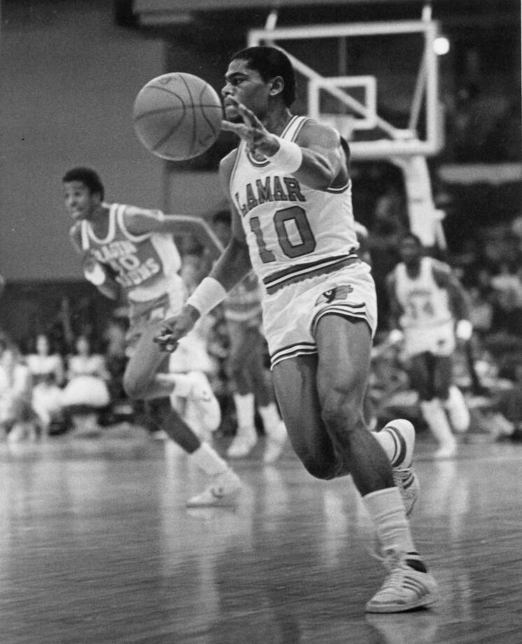 12. 1980 Lamar: The Cardinals notched a pair of victories in the tournament, upsetting No. 17 Weber State behind 37 points from guard Mike Olliver (above) and No. 5 Oregon State to earn their first Sweet 16 berth. Photo: Courtesy Photo