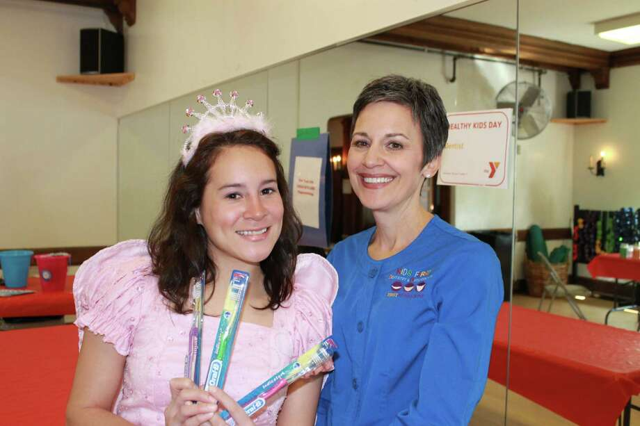 The tooth fairy makes a special appearance, with Laura Epifano   from Kids First Dentistry.