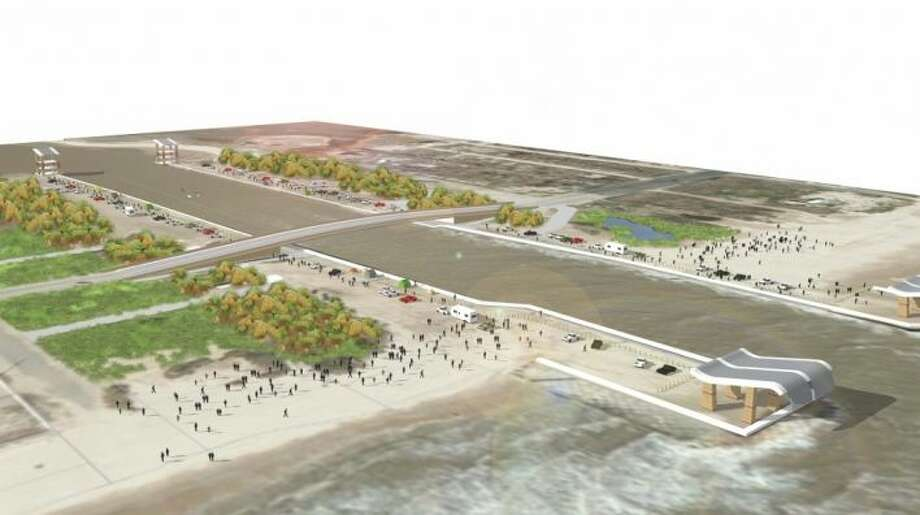 Artist's rendering of Rollover Pass on Bolivar Peninsula.  Photo courtesy of Gilchrist Community Association Photo: Gilchrist Community Association
