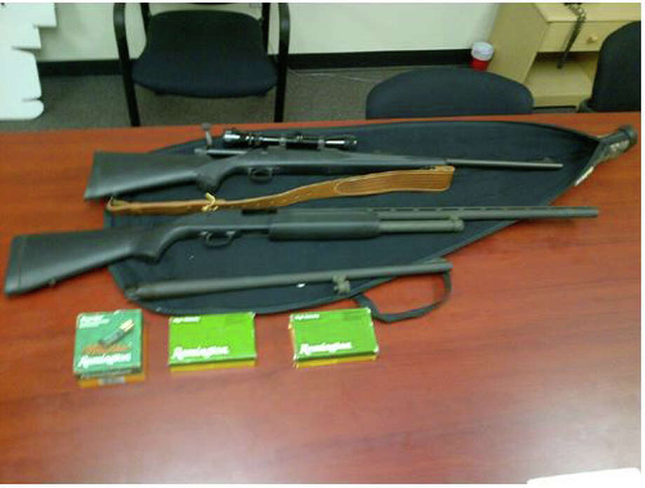 Guns police say they seized at home of William Rodriguez, a theft suspect Photo: Bridgeport Police, Bridgeport Police / Bridgeport Police Department