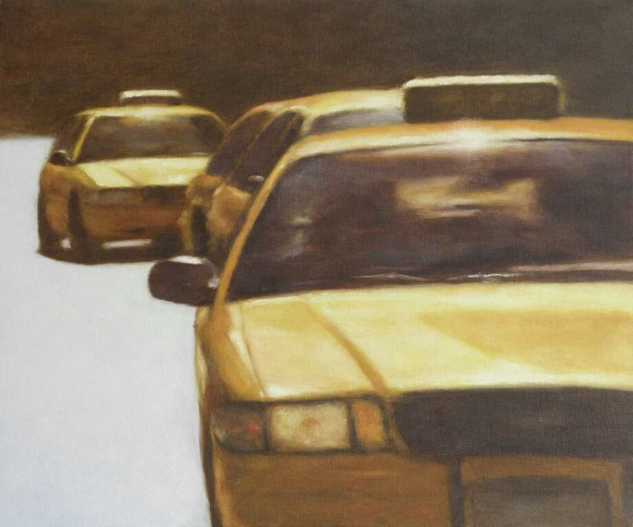 """Taxi Line,"" an oil painting by artist John Folchi, will be among the works on display in the exhibit ""Use of Shadow and Light"" opening on Wednesday, April 3, at the Geary Gallery, 576 Boston Post Road, Darien. Photo: Contributed"