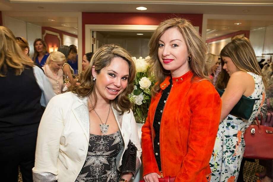 Rada Katz and Sonya Molodetskaya at ModeWalk's Spring Fashion Show and Luncheon on March 26, 2013. Photo: Drew Altizer Photography