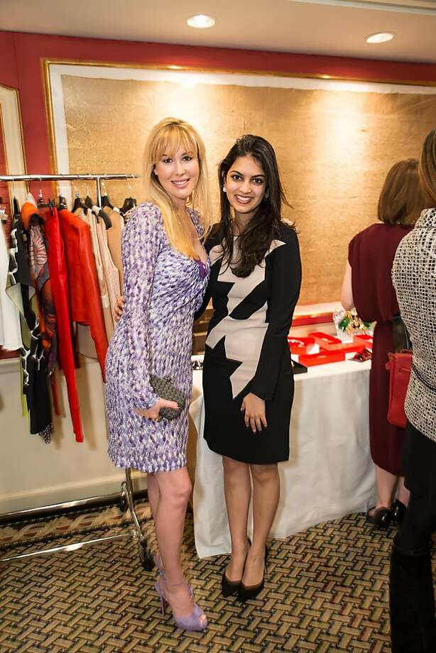 Rebecca Williams and Sonam Rajpal at ModeWalk's Spring Fashion Show and Luncheon on March 26, 2013. Photo: Drew Altizer Photography
