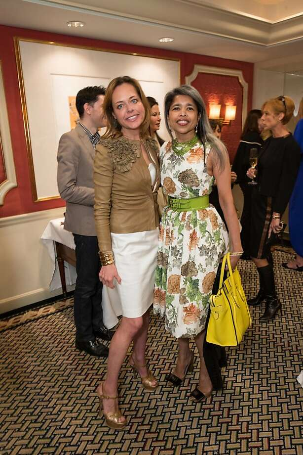 Charlot Malin and Deepa Pakianathan at ModeWalk's Spring Fashion Show and Luncheon on March 26, 2013. Photo: Drew Altizer Photography